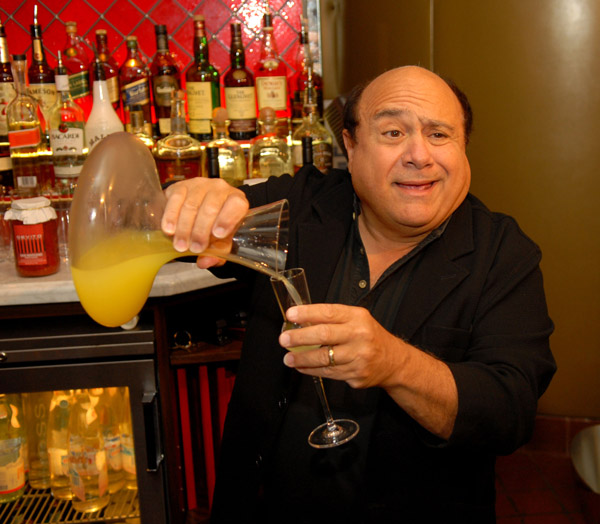 MIAMI BEACH - AUGUST 31: Danny DeVito launches his new after-dinner liquor line, Limoncello at DeVito South Beach August 31, 2007 in Miami Beach, Florida. (Photo by Seth Browarnik/Wire Image)