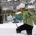 Видео: скандинавская ходьба в заснеженном Санкт Петербурге 12 декабря 2010 года… :)