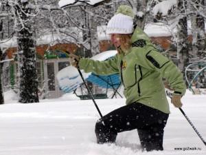 Видео: скандинавская ходьба в заснеженном Санкт Петербурге 12 декабря 2010 года... :)