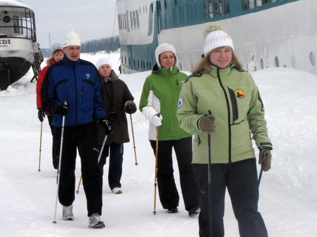 Обучающий семинар по original nordic walking в Лапперанте 28-27 февраля