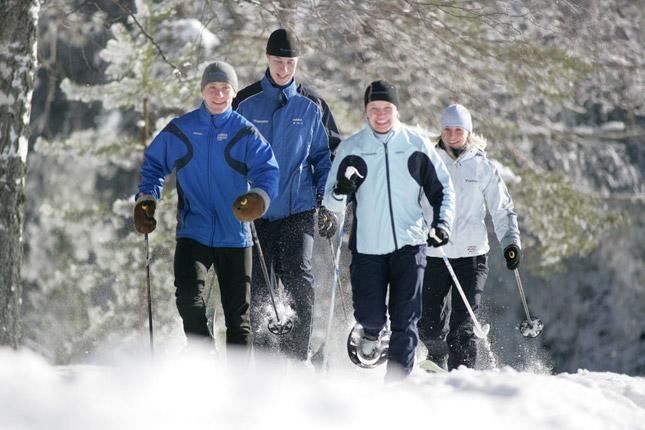 Зимний  лагерь по скандинавской ходьбе Финского Спортивного Института в Виерумяки