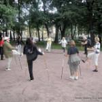 2011 08 20 Тренировка nordic walking которая началась в Таврическом саду, во вторник, а закончилась на Елагином острове в четверг