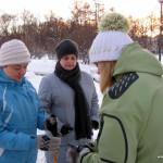 Фототчет с вводного занятия в Таврическом парке по технике скандинавской ходьбы, 11 декабря.