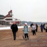 Nordic walking прогулка/тренировка 17 декабря по берегу Финского залива от Сестрорецка до солнечного и обратно
