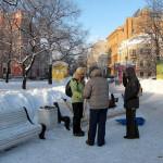 """Занятия по финской ходьбе """"Три шага"""" в Таврическом саду, 12 февраля."""