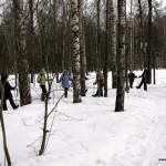 Фотоотчет  занятия по технике финской ходьбы в парке Сосновка, 15 марта.
