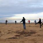 Мастер класс по скандинавской ходьбе в Сестрорецке. на берегу финского залива