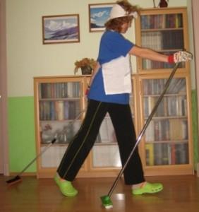 Оригинальная техника ходьбы со шваброй