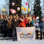 В Луге прошёл Марш любителей скандинавской ходьбы!