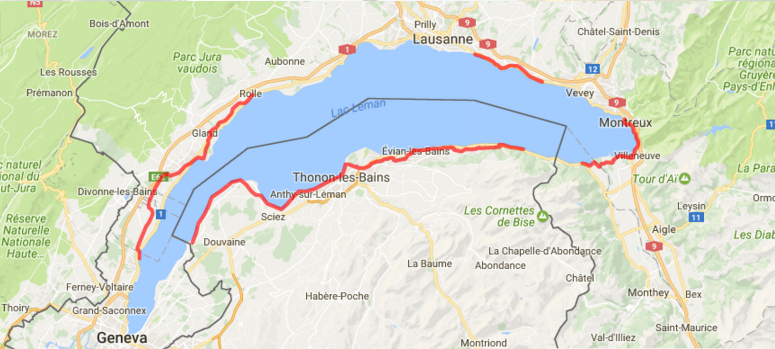 11 - 17 мая 2021 Nordic walking марш вокруг озера Леман (Швейцария-Франция)
