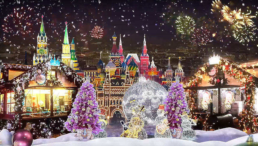 В Москву. Волшебное путешествие в Рождество!