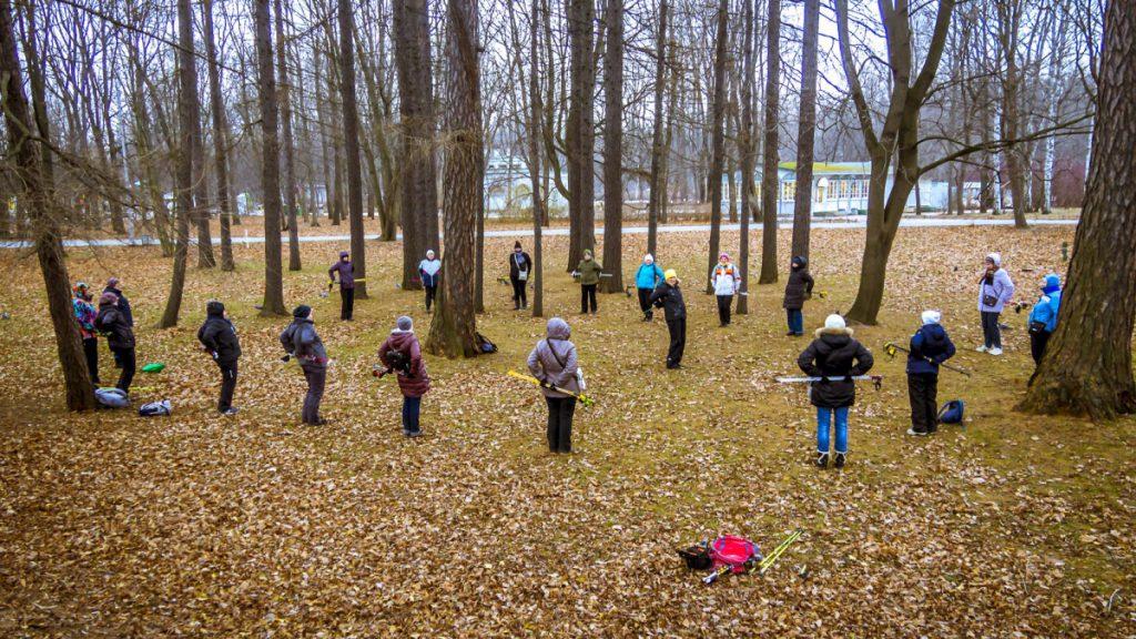 15 марта  мастер класс по скандинавской ходьбе в Таврическом саду