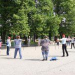 14 июля, мастер класс по скандинавской ходьбе в Таврическом саду, Санкт-Петербурга