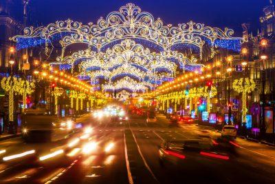 02.01.2020 Вечерняя Новогодняя прогулка по центру Санкт-Петербурга с Екатериной Каширской