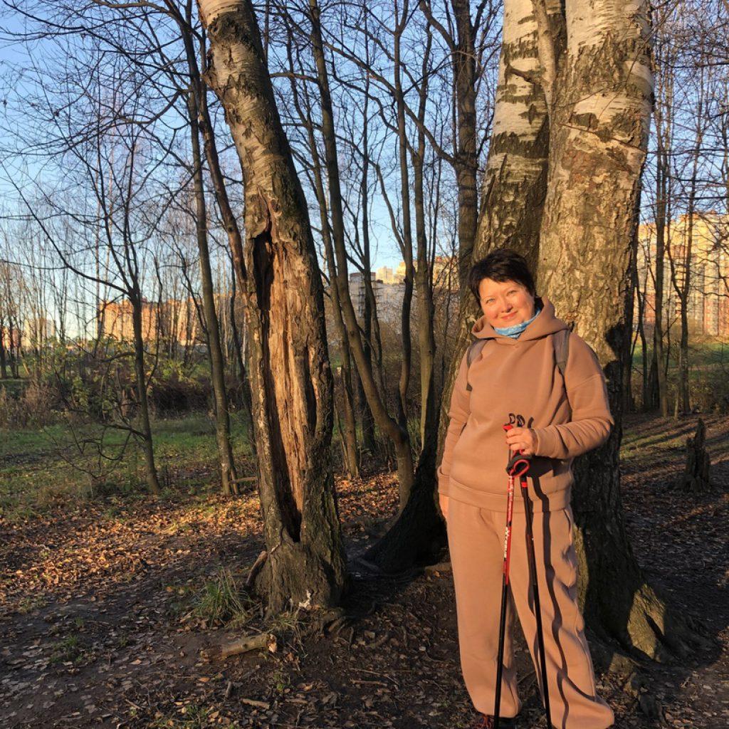 Анна Гурьева. Инструктор по скандинавской ходьбе,Санкт-Петербург.